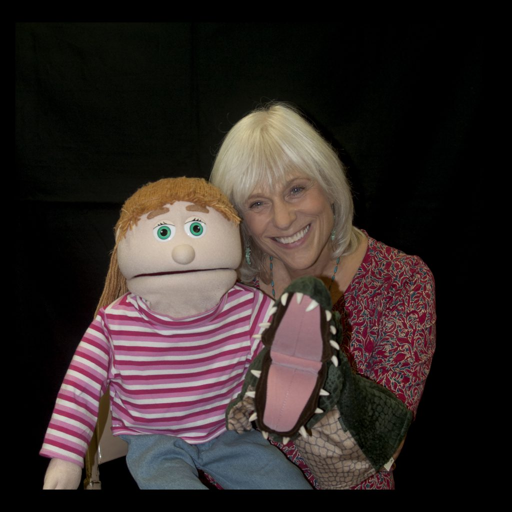 Becky with Puppets